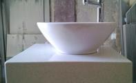 Cimstone tezgah üstü çanak lavabo uygulaması.Orjinal Çimstone ürünleri için Altaş Granit ile irtibat kurunuz.