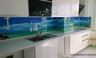 Mutfak Tezgah Camları. Triadoor sanatsal panel kaplamalar.