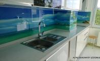 Mutfak Camı. Tezgah araları için en şık çözümler. Eksiz ,Derzsiz, şık ve kullanışlı cam panel kaplamalar.