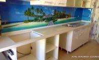 Dekoratif mutfak arkası çözümler...Triadoor 3D Panel kaplamalar. Mutfaklarınıza şık çözümler.