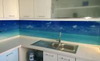Mutfak tezgah arkası resimli cam paneller , manzara resimli mutfak fayansları, resimli camfayans