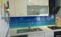 Tezgah arası cam paneller, resimli panel kaplamalar, triadoor cam fayans, camfayans,cammozaik