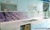 Mutfak Tezgah arası cam kaplama. Triadoor yeni nesil mutfak panel kaplamaları. Binlerce desen ve resim alternatifi.