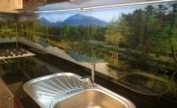 Cam mutfak dolap tezgah arası panel kaplamalar, Triadoor üç boyutlu resimli panel kaplama