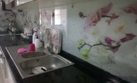 Mutfak Arası Resim Baskılı Cam Karo - cam fayans - cam mozaik, TRiADOOR