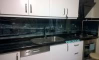 Mutfak Tezgah Üstü Arka Panel Cam kaplama - Resimli Mutfak Camı