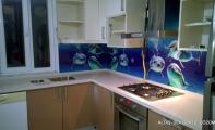 Mutfak tezgah arası eksiz panel kaplamalar Triadoor, resimli mutfak arası cam paneller